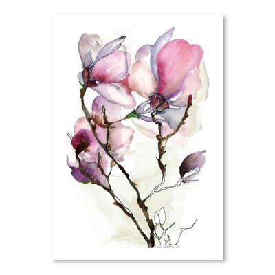 Americanflat Magnoila 3 Art Print Wrapped on Canvas