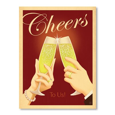 Americanflat Cheers To Us Graphic Art Wrapped on Canvas