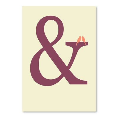 Americanflat Ampersand Typography Wrapped on Canvas