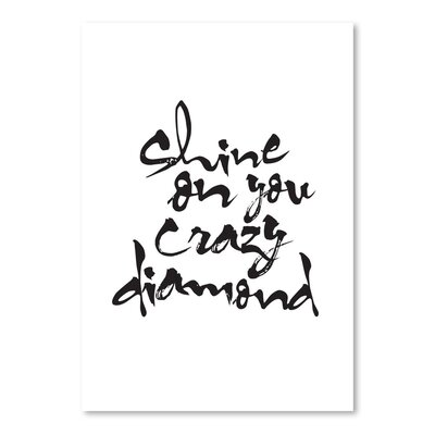Americanflat Shine on You Crazy Diamond Typography on Canvas