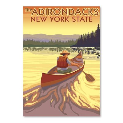 Americanflat 35489 Vintage Advertisement Wrapped on Canvas
