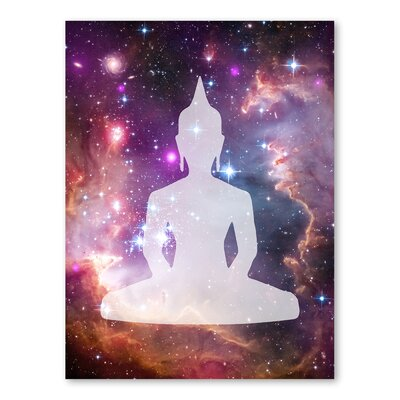 Americanflat Galaxy Buddha Graphic Art Wrapped on Canvas