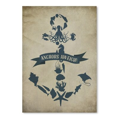 Americanflat Anchors Aweigh 3 Graphic Art Wrapped on Canvas
