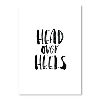 Americanflat Head over Heels Typography in Black