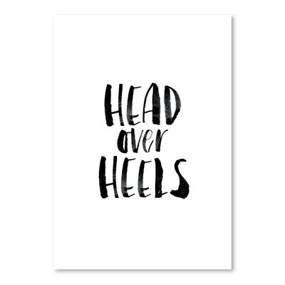 Americanflat Head over Heels Typography on Canvas