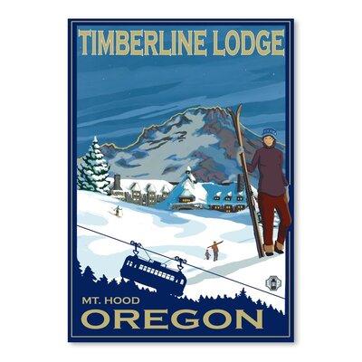 Americanflat Timberline Lodge Oregon Vintage Advertisement