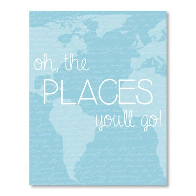 Americanflat Places You'll Go Graphic Art Wrapped on Canvas