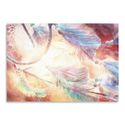 Americanflat Watercolor dreamcatcher 2 Graphic Art Wrapped on Canvas
