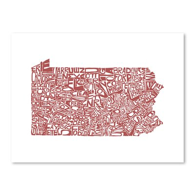 Americanflat Pennsylvania Typography Wrapped on Canvas