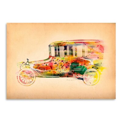 Americanflat Folsfagen Car 3 Art Print Wrapped on Canvas