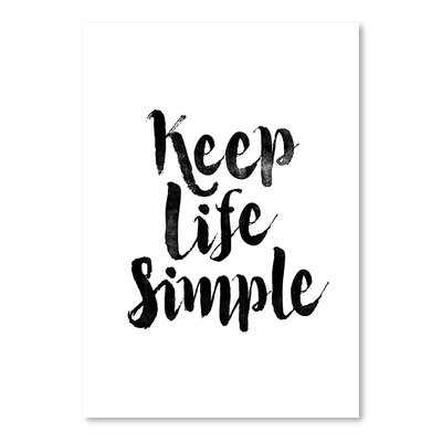 Americanflat Keep Life Simple Typography