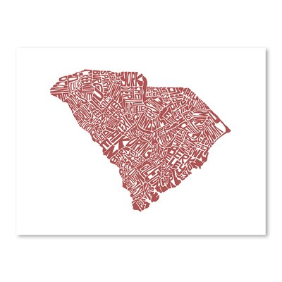 Americanflat South Carolina Typography on Canvas