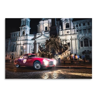 Americanflat Car 296 Photographic Print Wrapped on Canvas