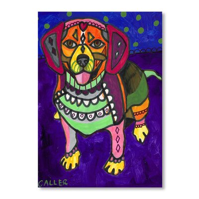 Americanflat Beagle Art Print Wrapped on Canvas