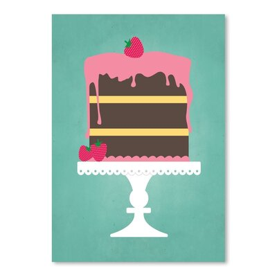 Americanflat Sweets Cake Graphic Art Wrapped on Canvas