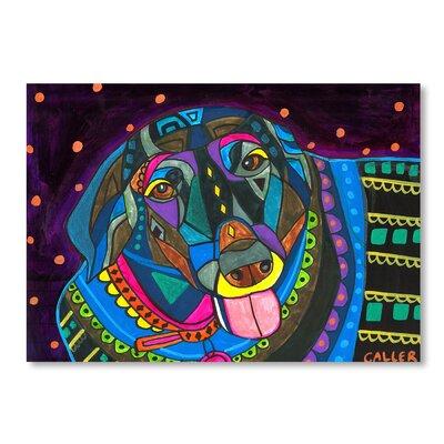 Americanflat Black Labrador Art Print Wrapped on Canvas