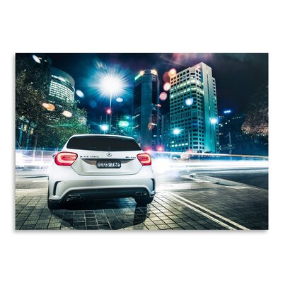 Americanflat Mercedes 2 Photographic Print Wrapped on Canvas