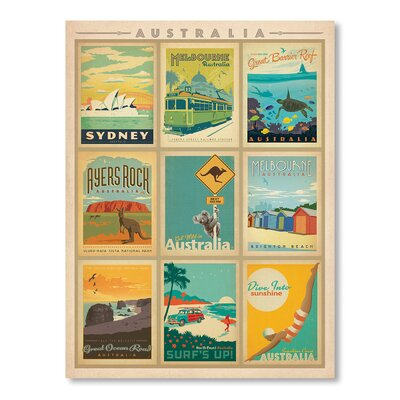 Americanflat WT Aussi Vintage Advertisement Wrapped on Canvas