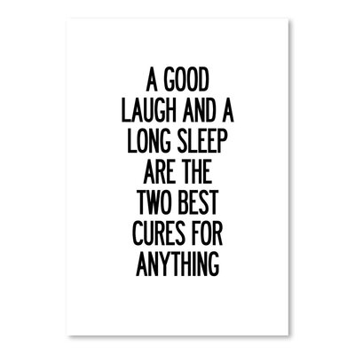 Americanflat A Good Laugh and a Long Sleep Typography on Canvas