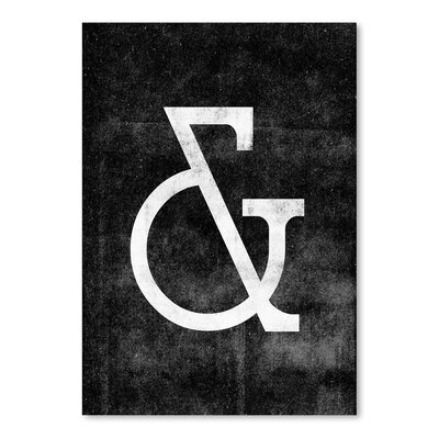 Americanflat Ampersand Deco Typography Wrapped on Canvas