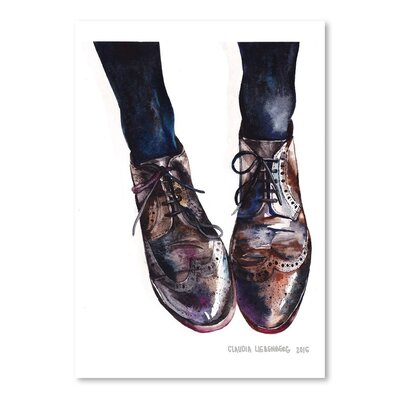 Americanflat Oxfords 1 Graphic Art Wrapped on Canvas