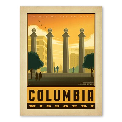 Americanflat Asa Columbia Mo Vintage Advertisement Wrapped on Canvas