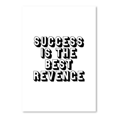 Americanflat Success is The Best Revenge Typography Wrapped on Canvas