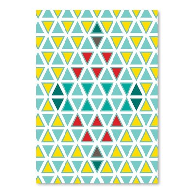 Americanflat Traingle Multi Graphic Art Wrapped on Canvas