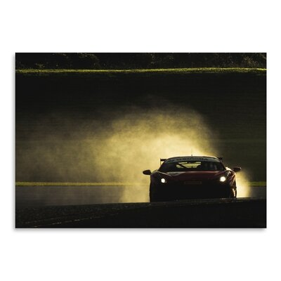 Americanflat Car Photographic Print Wrapped on Canvas