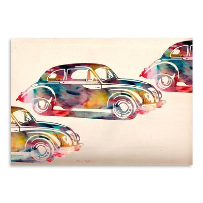 Americanflat Folsfagen Car Graphic Art Wrapped on Canvas
