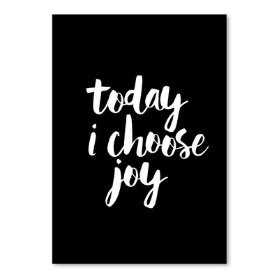 Americanflat Today I Choose Joy Typography Wrapped on Canvas