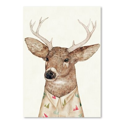 Americanflat White-tailed Deer Graphic Art on Canvas