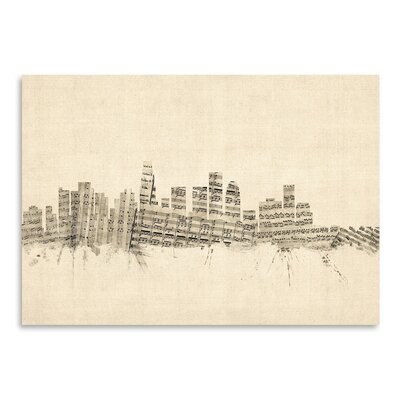 Americanflat Los Angeles Graphic Art Wrapped on Canvas