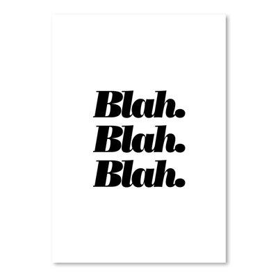 Americanflat Blah Blah Blah Typography