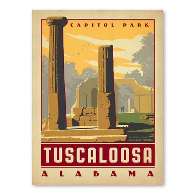 Americanflat Asa Tuscaloosa Vintage Advertisement Wrapped on Canvas