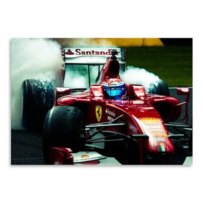 Americanflat Ferrari Graphic Art Wrapped on Canvas