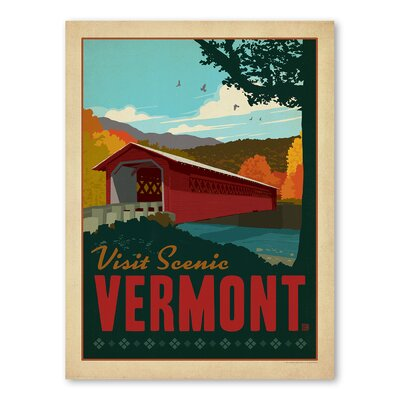 Americanflat Asa Vermont Vintage Advertisement Wrapped on Canvas