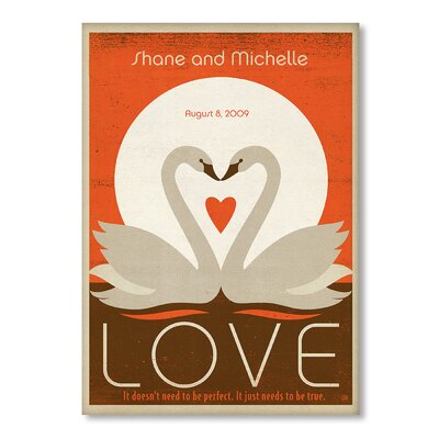 Americanflat Love Swans Vintage Advertisement Wrapped on Canvas