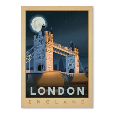 Americanflat WT London Bridge Vintage Advertisement Wrapped on Canvas