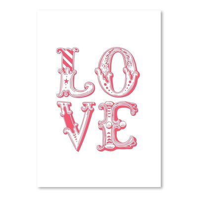 Americanflat Love Carnival Typography Wrapped on Canvas