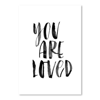 Americanflat You Are Loved Typography Wrapped on Canvas