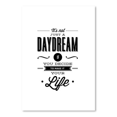 Americanflat It's Not Just a Daydream Typography on Canvas