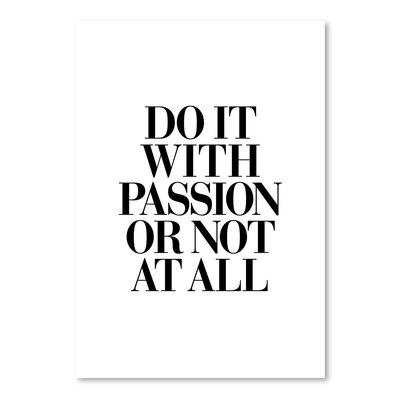 Americanflat Do It with Passion Typography