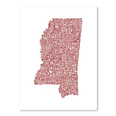 Americanflat Mississippi Typography on Canvas