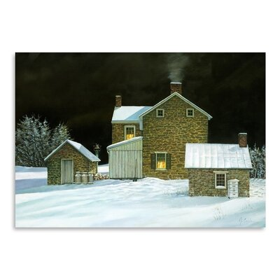 Americanflat Door Yard Snow Photographic Print Wrapped on Canvas
