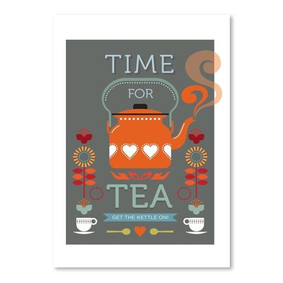 Americanflat Time for Tea Graphic Art Wrapped on Canvas