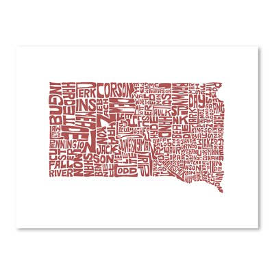 Americanflat South Dakota Typography Wrapped on Canvas