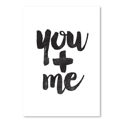 Americanflat You + Me Typography in Black
