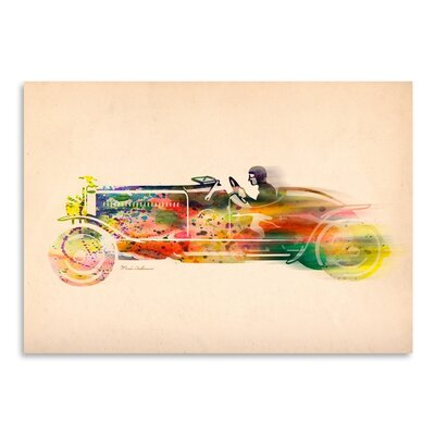 Americanflat Folsfagen Car 4 Art Print Wrapped on Canvas