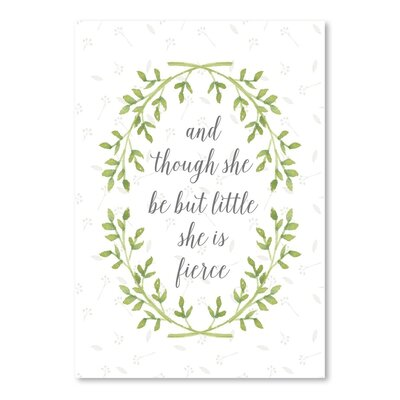 Americanflat Fierce Wreath Typography on Canvas
